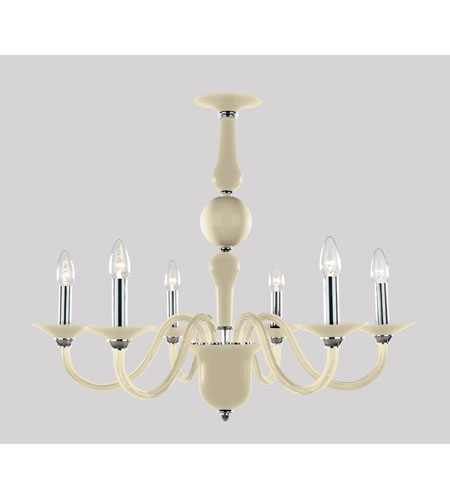 Trans Globe Lighting Versailles 6 Light Chandelier in Champagne BIANCA-6-CHPN photo