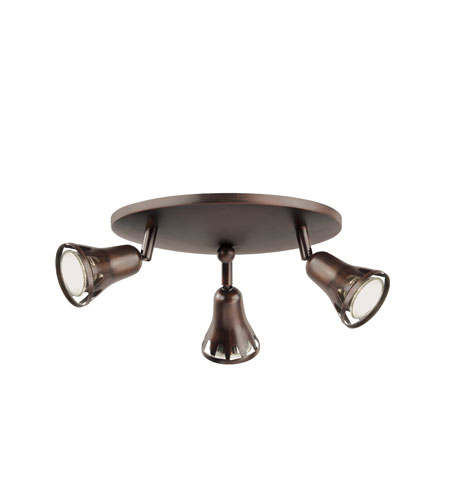 Trans Globe Contemporary 3 Light Track Light in Rubbed Oil Bronze W-490-ROB photo