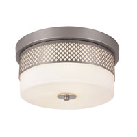 Trans Globe Lighting Signature 2 Light Flush Mount in Brushed Nickel 10007-BN photo thumbnail