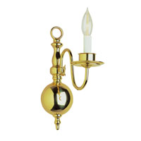 Trans Globe Lighting Back To Basics 1 Light Wall Sconce in Polished Brass 1001-1-PB