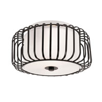 Trans Globe Lighting Signature 2 Light Flush Mount in Black 10030-BK photo thumbnail