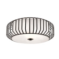 Trans Globe Lighting Signature 3 Light Flush Mount in Black 10031-BK