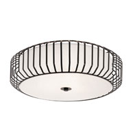Trans Globe Lighting Signature 4 Light Flush Mount in Black 10032-BK photo thumbnail