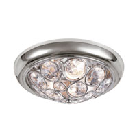 Trans Globe Lighting Contemporary Crystal 3 Light Flush Mounts in Polished Chrome 10061-PC