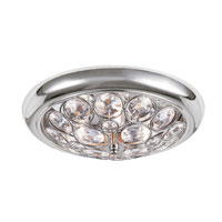 Crystal Sparkle 4 Light 14 inch Polished Chrome Flush Mount Ceiling Light
