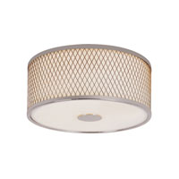 Diamond Grill 2 Light 12 inch Polished Chrome Flush Mount Ceiling Light
