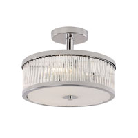 Trans Globe Round 3 Light Semi Flushmount in Polished Chrome 10150-PC