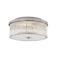 Trans Globe Round 3 Light Flushmount in Polished Chrome 10155-PC