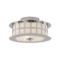 Trans Globe Lighting Steel Wheel 2 Light Flush Mount in Polished Chrome 10180-PC