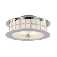 Trans Globe Lighting Steel Wheel 2 Light Flush Mount in Polished Chrome 10181-PC