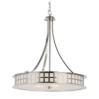 Trans Globe Lighting Steel Wheel 5 Light Pendant in Polished Chrome 10184-PC