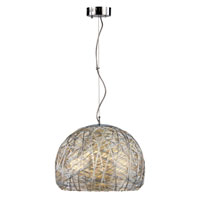 Trans Globe Lighting Recycled Silver Cord 3 Light Flush Mount in Polished Chrome 10200-PC