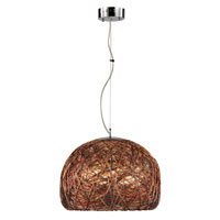 Trans Globe Lighting Recycled Multi Cord 3 Light Flush Mount in Polished Chrome 10201-PC