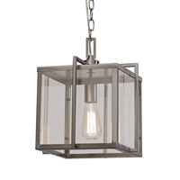 Signature 1 Light 12 inch Brushed Nickel Pendant Ceiling Light