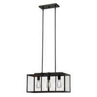Trans Globe Boxed 3 Light Pendant in Rubbed Oil Bronze 10213-ROB