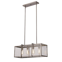 Trans Globe Signature 4 Light Pendant in Brushed Nickel 10214-BN