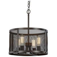 Mesh 4 Light 16 inch Rubbed Oil Bronze Pendant Ceiling Light