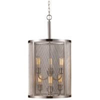 Mesh 6 Light 16 inch Brushed Nickel Pendant Ceiling Light