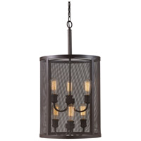 Mesh 6 Light 16 inch Rubbed Oil Bronze Pendant Ceiling Light
