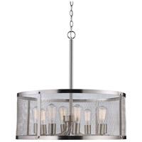 Trans Globe Lighting 10228-BN Mesh 8 Light 25 inch Brushed Nickel Pendant Ceiling Light