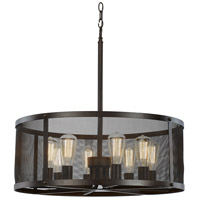 Mesh 8 Light 25 inch Rubbed Oil Bronze Pendant Ceiling Light