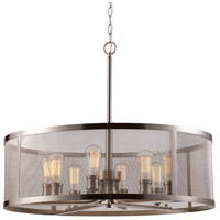 Mesh 8 Light 30 inch Brushed Nickel Pendant Ceiling Light