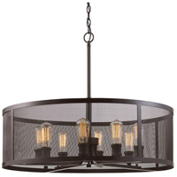 Mesh 8 Light 30 inch Rubbed Oil Bronze Pendant Ceiling Light