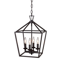 Signature 4 Light 12 inch Rubbed Oil Bronze Pendant Ceiling Light