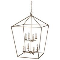 Trans Globe Lighting 10265-ASL Lacey 8 Light 26 inch Antique Silver Leaf Pendant Ceiling Light