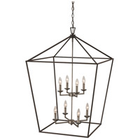 Lacey 8 Light 26 inch Polished Chrome and Black Pendant Ceiling Light