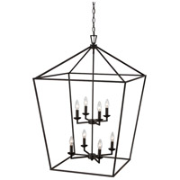 Trans Globe Lighting 10265-ROB Lacey 8 Light 26 inch Rubbed Oil Bronze Pendant Ceiling Light