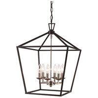 Lacey 6 Light 16 inch Polished Chrome and Black Pendant Ceiling Light