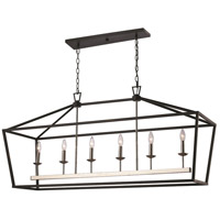 Lacey 6 Light 15 inch Polished Chrome and Black Pendant Ceiling Light