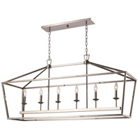 Lacey 6 Light 49 inch Polished Chrome Pendant Ceiling Light