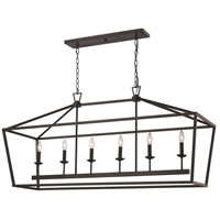 Lacey 6 Light 15 inch Rubbed Oil Bronze Pendant Ceiling Light