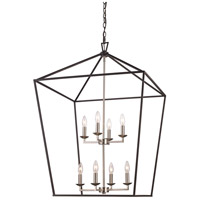 Trans Globe Lighting 10268-BK/BN Lacey 8 Light 19 inch Black and Brushed Nickel Pendant Ceiling Light