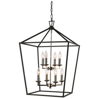Lacey 8 Light 16 inch Polished Chrome and Black Pendant Ceiling Light