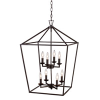 Signature 8 Light 19 inch Rubbed Oil Bronze Pendant Ceiling Light