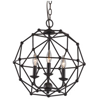 Trans Globe Lighting 10343-ROB Avo 3 Light 16 inch Rubbed Oil Bronze Pendant Ceiling Light