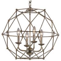 Trans Globe Lighting 10344-ASL Signature 4 Light 20 inch Antique Silver Leaf Pendant Ceiling Light