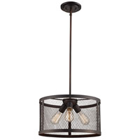 Mist 3 Light 16 inch Rubbed Oil Bronze Pendant Ceiling Light