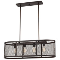 Mist 4 Light 13 inch Rubbed Oil Bronze Pendant Ceiling Light