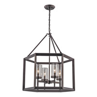 Circuit 4 Light 20 inch Rubbed Oil Bronze Pendant Ceiling Light