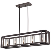 Circuit 5 Light 8 inch Rubbed Oil Bronze Pendant Ceiling Light