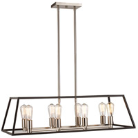 Trans Globe Lighting 10468-BK/BN Adams 8 Light 35 inch Black and Brushed Nickel Pendant Ceiling Light