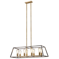 Adams 8 Light 14 inch Rubbed Oil Bronze Pendant Ceiling Light
