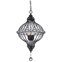 Alcira 4 Light 17 inch Rubbed Oil Bronze Pendant Ceiling Light