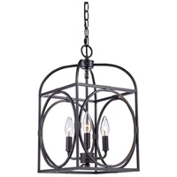 Academy 3 Light 10 inch Rubbed Oil Bronze Pendant Ceiling Light