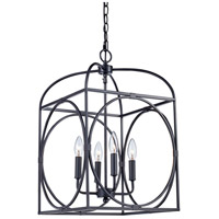 Academy 4 Light 14 inch Rubbed Oil Bronze Pendant Ceiling Light