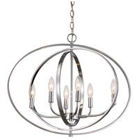 Cosmo 6 Light 25 inch Polished Chrome Pendant Ceiling Light